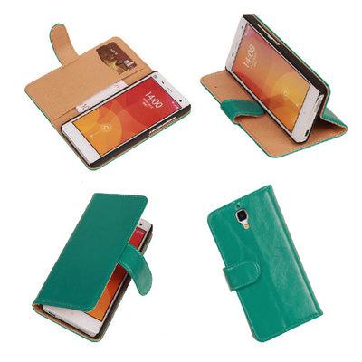 PU Leder Groen Hoesje voor XiaoMi Mi4 Book/Wallet Case/Cover