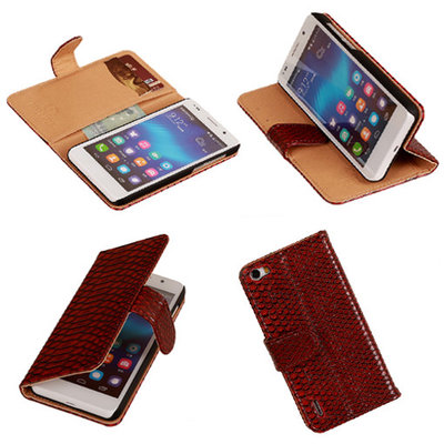 BC Slang Rood Honor 6 Bookcase Cover Hoesje