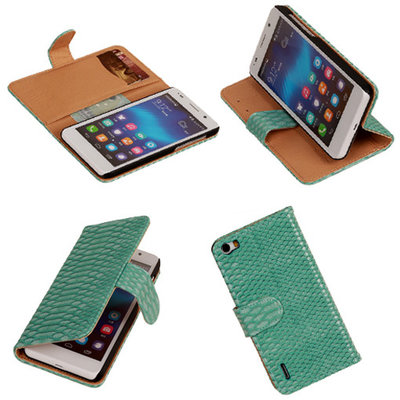 "BC ""Slang"" Turquoise Honor 6 Bookcase Cover Hoesje"