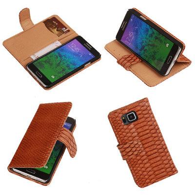 BC Slang Bruin Hoesje voor Samsung Galaxy Core Plus Bookcase Cover