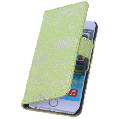 Lace Groen iPhone 5 5s Book/Wallet Case/Cover Hoesje