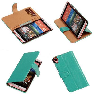 PU Leder Turquoise Hoesje voor HTC Desire 820 Book/Wallet Case/Cover
