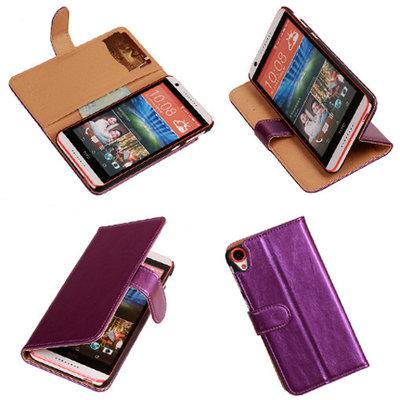 PU Leder Lila Hoesje voor HTC Desire 820 Book/Wallet Case/Cover