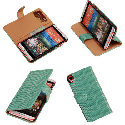 BC Slang Turquoise Hoesje voor HTC Desire 820 Book/Wallet Case