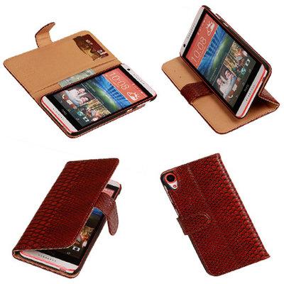 BC Slang Rood Hoesje voor HTC Desire 820 Book/Wallet Case