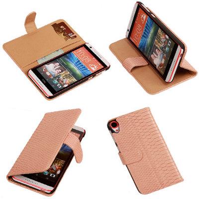 BC Slang Pink Hoesje voor HTC Desire 820 Book/Wallet Case