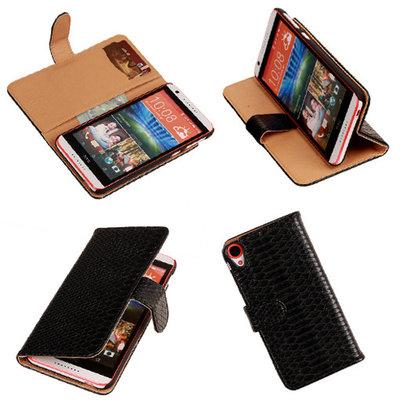 BC Slang Zwart Hoesje voor HTC Desire 820 Book/Wallet Case