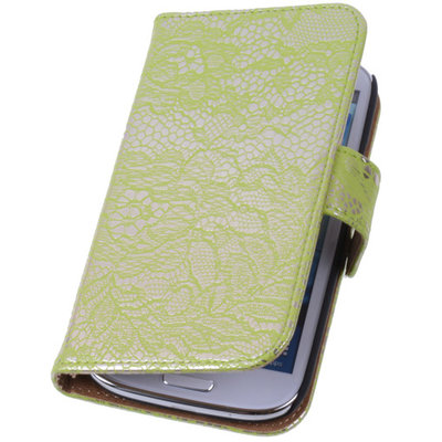 Lace Groen Samsung Galaxy S4 Mini Book/Wallet Case/Cover Hoesje