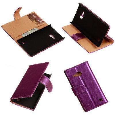 PU Leder Lila Hoesje voor Nokia Lumia 735 Book/Wallet Case/Cover