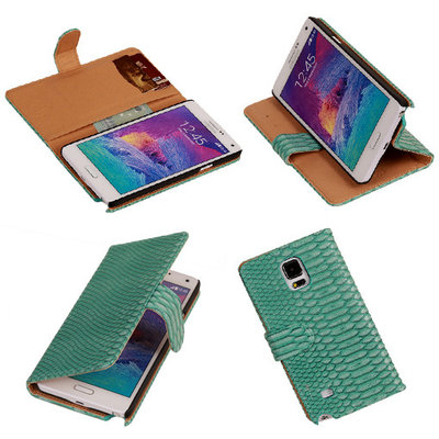 BC Slang Turquoise Hoesje voor Samsung Galaxy Note 4 Bookcase Cover