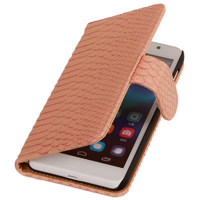 BC Slang Pink Huawei Ascend G7 Bookcase Cover Hoesje