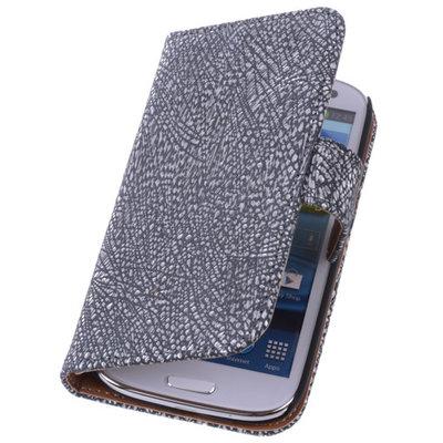 Glamour Zwart Hoesje voor Samsung Galaxy S5 (Plus) Echt Leer Wallet Case