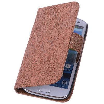 Glamour Gold Hoesje voor Samsung Galaxy S5 (Plus) Echt Leer Wallet Case