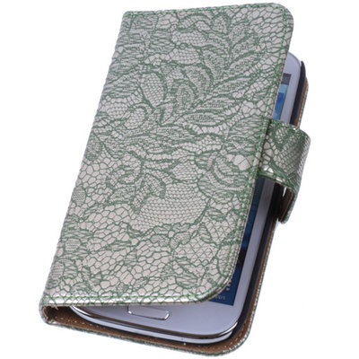 Lace Donker Groen Samsung Galaxy Note 3 Neo Book/Wallet Case/Cover