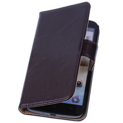 PU Leder Mocca Hoesje voor Samsung Galaxy S2 Plus Book/Wallet Case/Cover