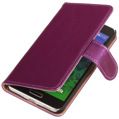 PU Leder Lila Hoesje voor Samsung Galaxy S2 Plus Book/Wallet Case/Cover