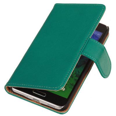 PU Leder Groen Samsung Galaxy S2 Plus Book/Wallet Case/Cover Hoesje