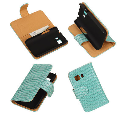 BC Slang Turquoise Samsung Galaxy Young 2 Bookcase Cover Hoesje