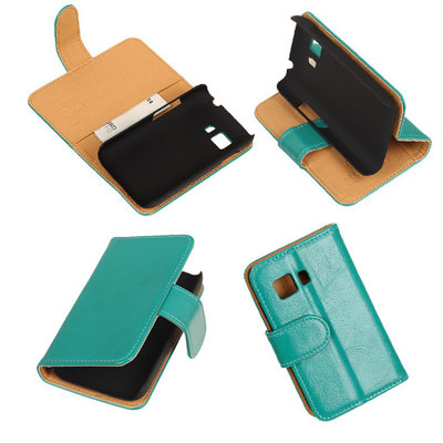 PU Leder Groen Hoesje voor Samsung Galaxy Young 2 Book/Wallet Case/Cover