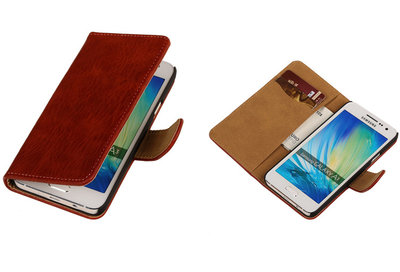 Blauw Hout Hoesje voor Samsung Galaxy A3 2015 Book/Wallet Case/Cover