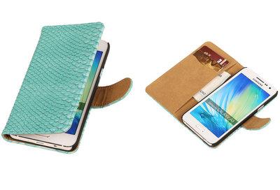 Turquiose Slang Samsung Galaxy A3 Hoesje Book/Wallet Case/Cover