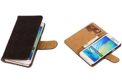 "BC ""Slang"" Zwart Samsung Galaxy A3 2015 Bookcase Cover Hoesje"