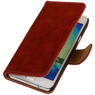 f61d02845d7 Rood Hout Hoesje voor Samsung Galaxy Core 2 Book/Wallet Case/Cover