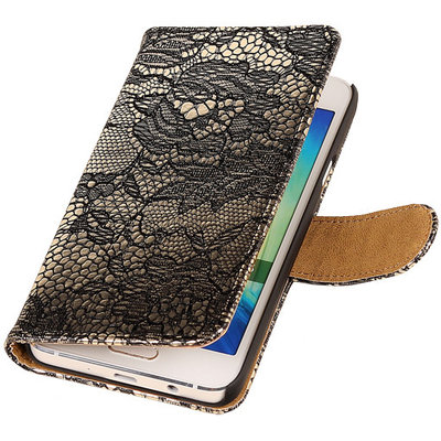 Lace Zwart Hoesje voor Microsoft Lumia 535 Book/Wallet Case/Cover