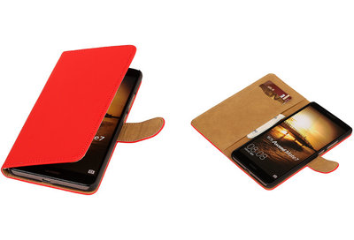 Rood Hoesje voor Huawei Ascend Mate 7 Book/Wallet Case/Cover