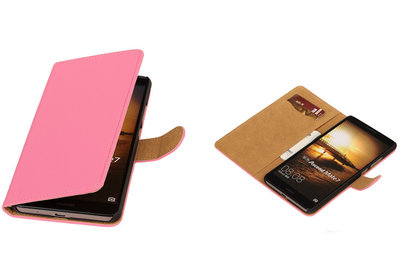 Roze Hoesje voor Huawei Ascend Mate 7 Book/Wallet Case/Cover