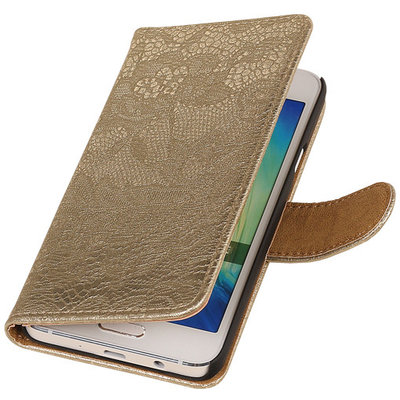 Lace Goud Hoesje voor Microsoft Lumia 535 Book/Wallet Case/Cover