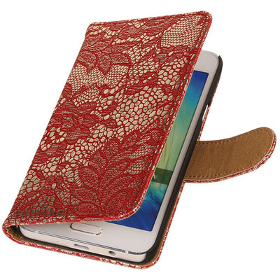 Lace Rood Hoesje voor Microsoft Lumia 535 Book/Wallet Case/Cover