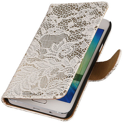 Lace Wit Hoesje voor Microsoft Lumia 535 Book/Wallet Case/Cover
