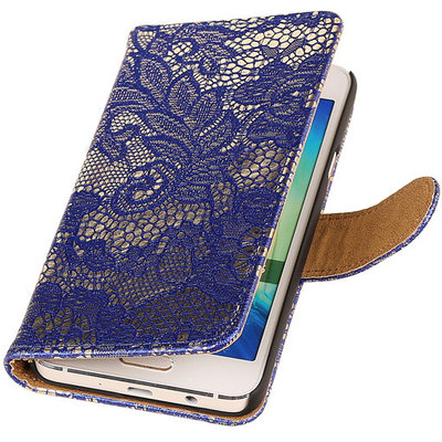 Lace Blauw Hoesje voor Microsoft Lumia 535 Book/Wallet Case/Cover