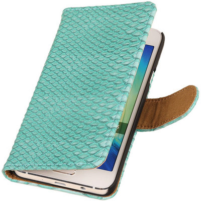 """BC """"Slang"""" Turquoise Samsung Galaxy A3 2015 Bookcase Cover Hoesje"""