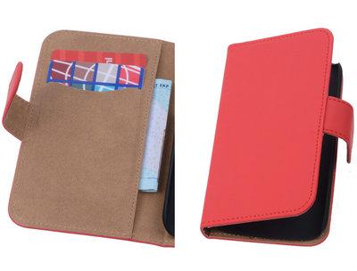 Rood Hoesje voor Motorola Moto X 2014 s Book/Wallet Case/Cover