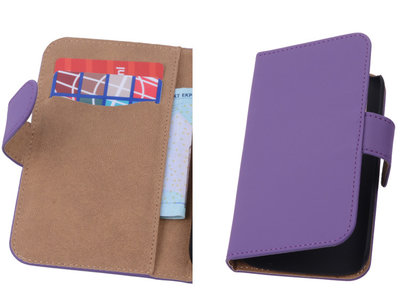 Paars Hoesje voor Motorola Moto X 2014 s Book/Wallet Case/Cover