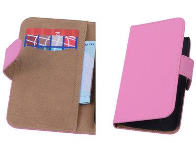 Roze Hoesje voor Motorola Moto X 2014 s Book/Wallet Case/Cover