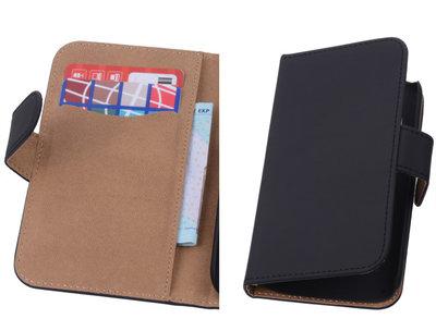 Zwart Hoesje voor Motorola Moto X 2014 s Book/Wallet Case/Cover
