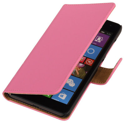 Roze Hoesje voor Microsoft Lumia 535 Book/Wallet Case/Cover