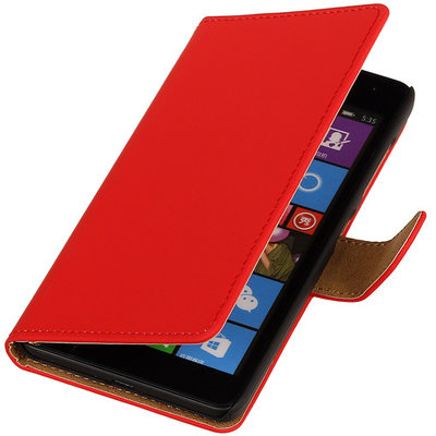 Rood Hoesje voor Microsoft Lumia 535 Book/Wallet Case/Cover