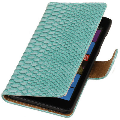 BC Slang Turquoise Hoesje voor Microsoft Lumia 535 Stand Bookcase Wallet Cover