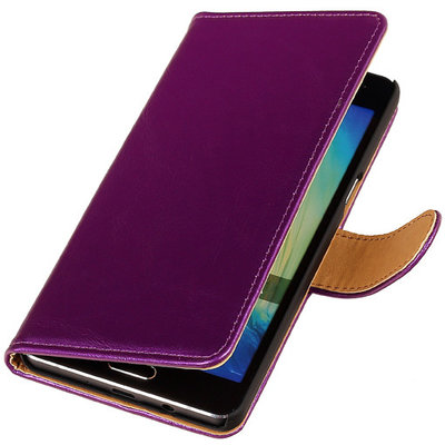 PU Leder Lila Hoesje voor Microsoft Lumia 535 Book/Wallet Case/Cover