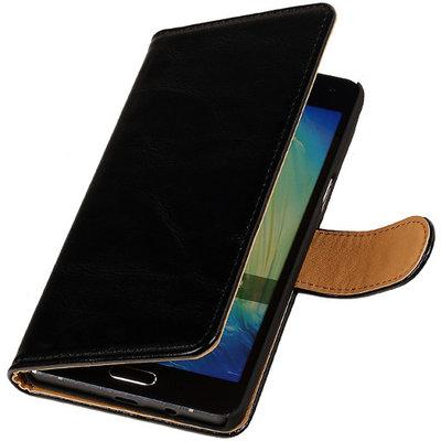 PU Leder Zwart Microsoft Lumia 535 Book/Wallet Case/Cover