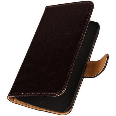 PU Leder Mocca Hoesje voor HTC Desire Eye Book/Wallet Case/Cover