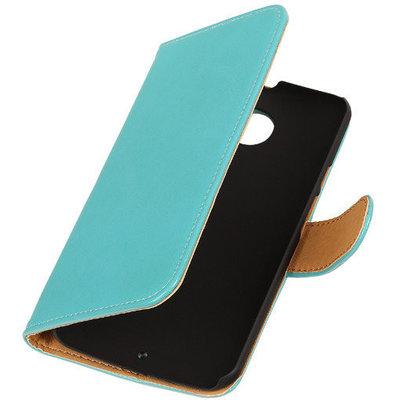 PU Leder Turquoise Hoesje voor HTC Desire Eye Book/Wallet Case/Cover