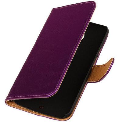 PU Leder Lila Hoesje voor HTC Desire Eye Book/Wallet Case/Cover