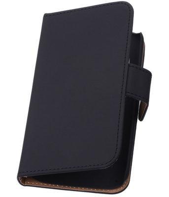 Zwart Hoesje voor Samsung Galaxy Core LTE Book/Wallet Case/Cover