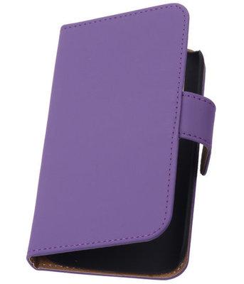 Paars Hoesje voor Samsung Galaxy Core LTE Book/Wallet Case/Cover