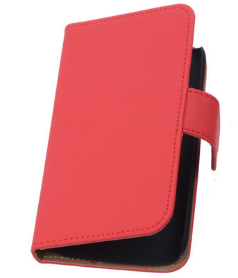Rood Hoesje voor Samsung Galaxy Core LTE Book/Wallet Case/Cover